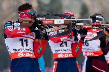 Biathletes are among the Russian Olympic competitors who are helped by corporate executives.
