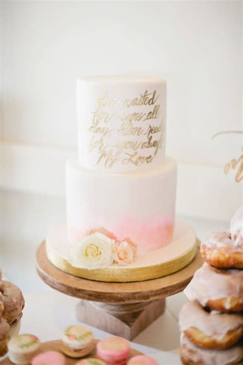 pink and gold baby shower cake   Wedding & Party Ideas