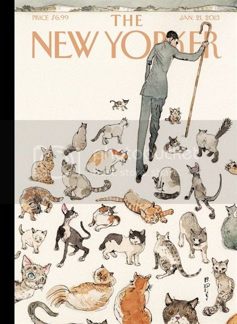 New Yorker cover, 21 Jan 2013, showing Obama herding cats