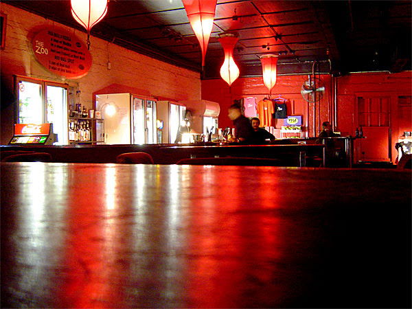 the bar at The Zoo, Fortitude Valley
