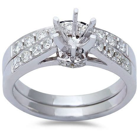 .70ct 14kt White Gold Round Diamond Cathedral Style