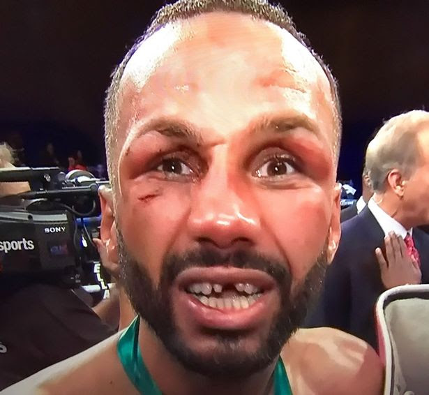 Badou Jack punches James DeGale