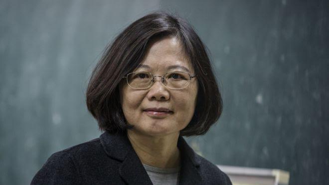 Foto da presidente Tsai Ing-wen