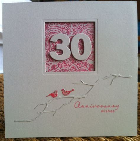 30th Wedding Anniversary card   card inspirations