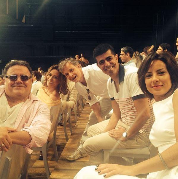 Léo Jaime, Suzana Pires, Marcello Novaes, Marcius Melhem e Andreia Horta (Foto: Instagram/Reprodução)