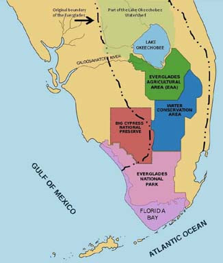 Map Of The Everglades In Florida Florida Map 2018