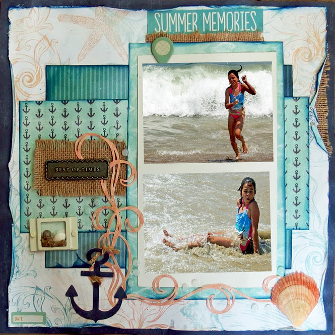 Layout: Summer Memories  Quick Quotes
