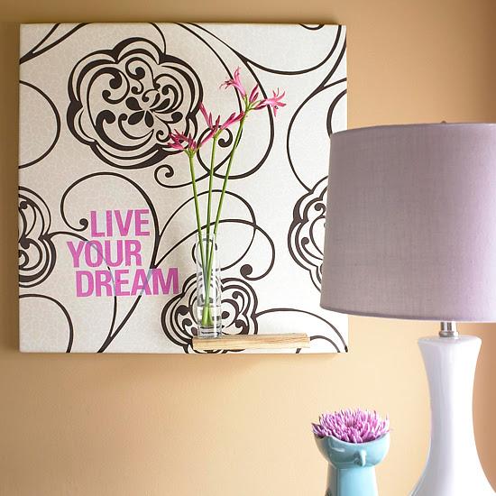DIY Wallpaper wall art