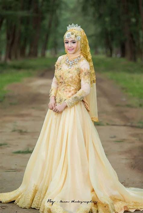 model gaun kebaya muslimah  pernikahan elegan
