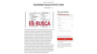 Petició a Change.org per demanar alguna actuació davant l'examen d'Economia de l'Empresa