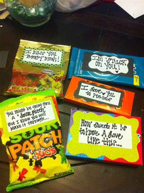 Helllo candy grams. Sayings to go with different candies