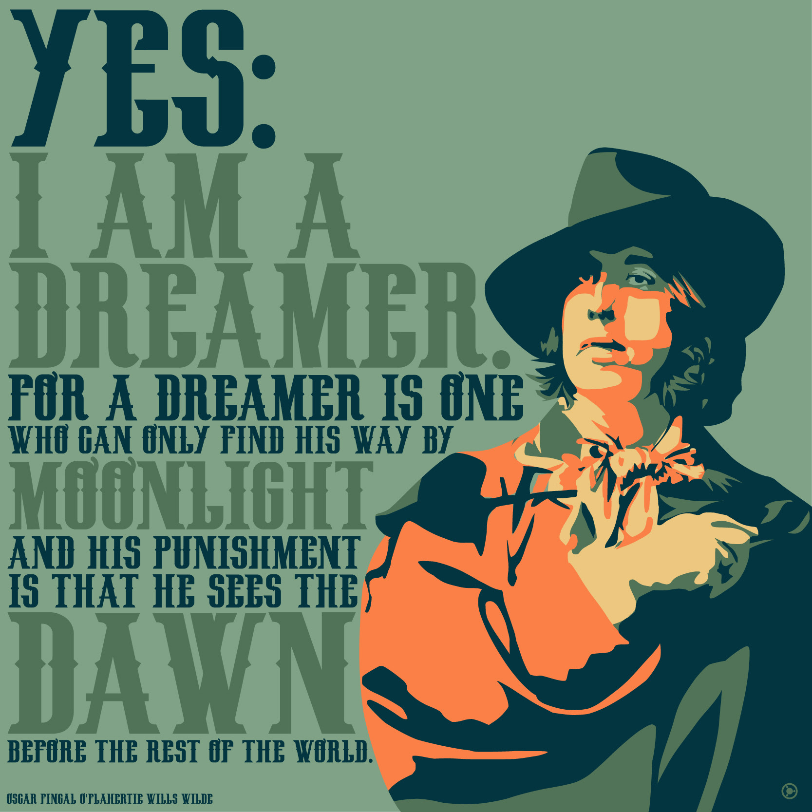 Yes I Am A Dreamer Oscar Wilde 2000x2000 Oc Os Quotesporn