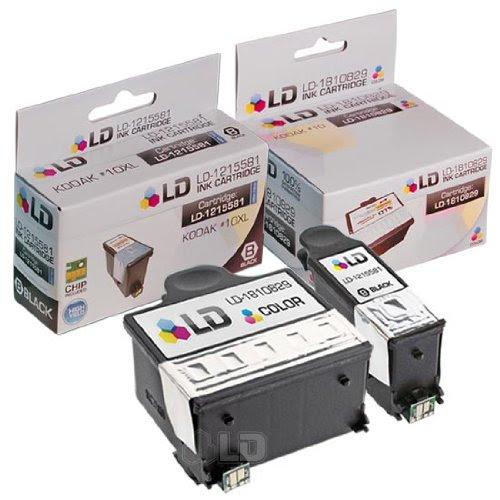 Ld Kodak Compatible 10 Set Of 2 Ink Cartridges 1 8237216 Black 1