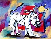 Artist  Singh - White Cat
