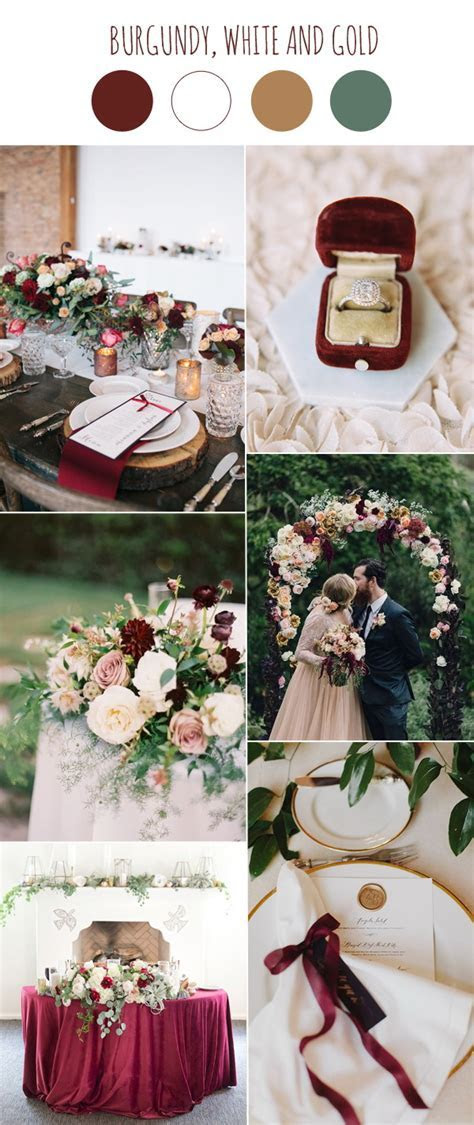 Trends Wedding Color Scheme With Burgundy and White