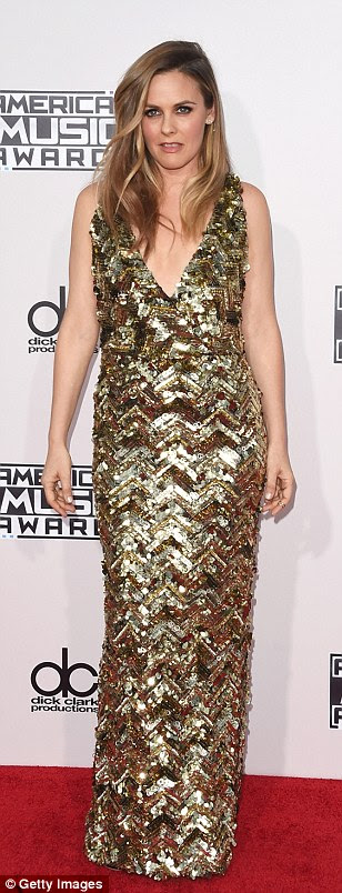 Precious metals: Rebel Wilson, Alicia Silverstone and Hannah Davis brought the glam in metallic dresses