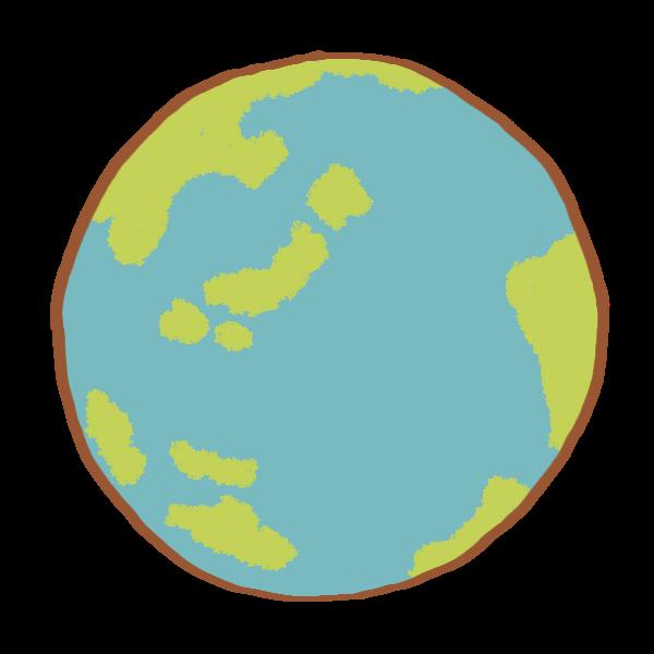 地球のイラスト かわいいフリー素材が無料のイラストレイン