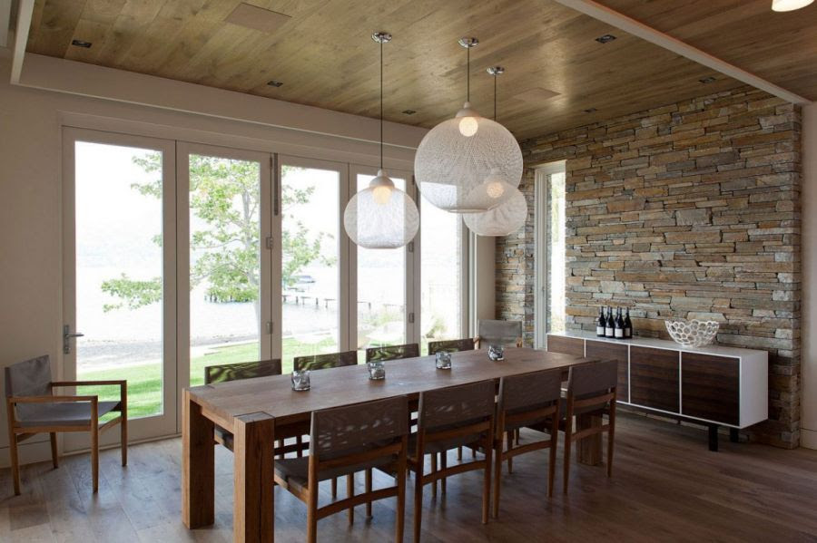 Beautiful pendant lights above the dining table  Decoist