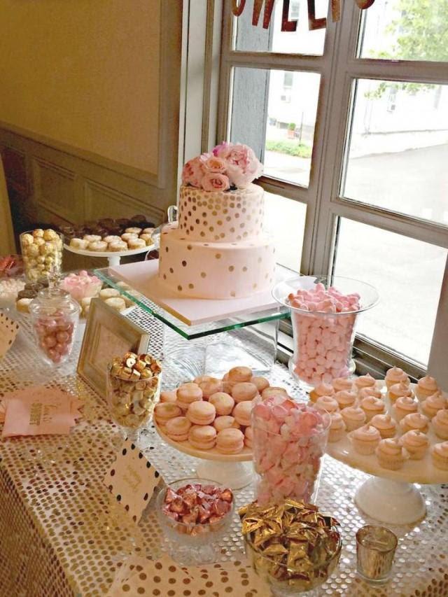 Bubbly Bar, Blush, Pink & Gold Bridal/Wedding Shower Party ...