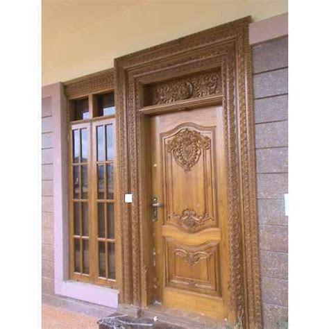 exterior polished wooden main door rs  piece