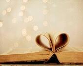 Book Photo, Romantic Art, Heart Book Photo, Bokeh Photography, Vintage Inspired Photography, 5x7 Heart Photo - Kristybee