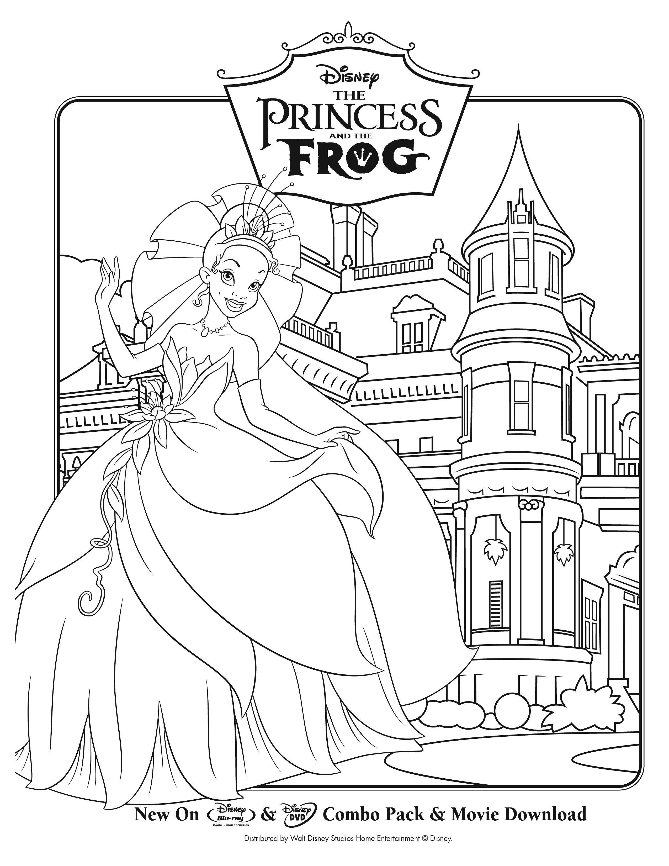 Princess story coloring pages