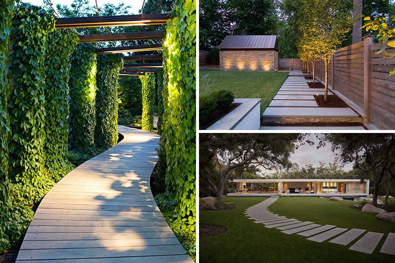 garden backyard paths wood stone concrete 100517 430 01