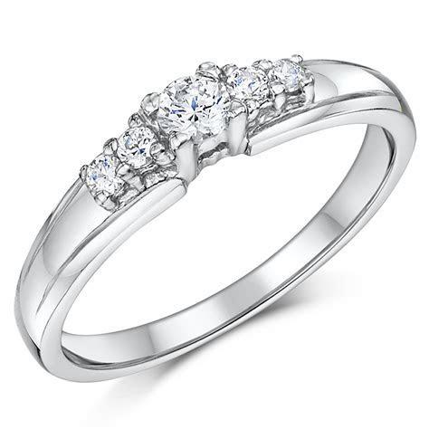 Cobalt 5 Stone Solitaire Engagement & 3mm Bridal Set Rings