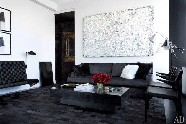 Ιδέες Σχεδιασμού  Σαλονιού  σε Άσπρο & Μαύρο3