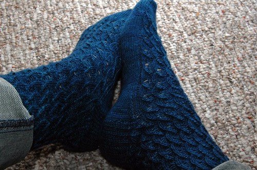 Child's First Socks in Shell Pattern