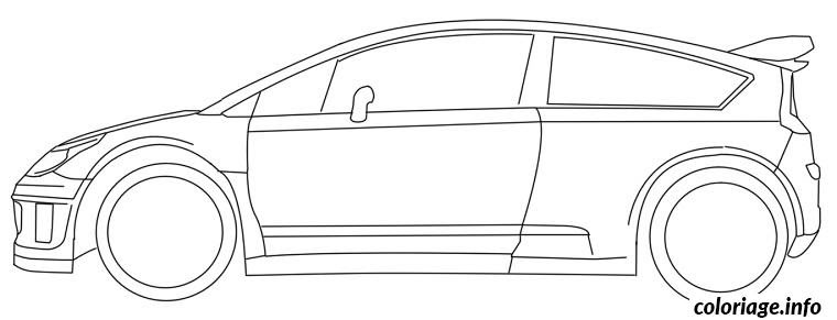 Coloriage Dessin Voiture Rallye Jecoloriecom
