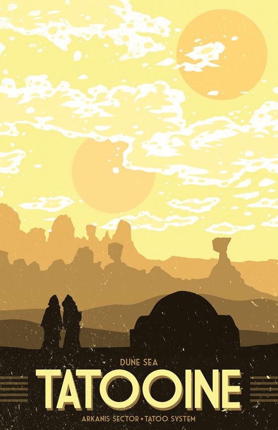 Star Wars Vacation Posters by Matt Peppler