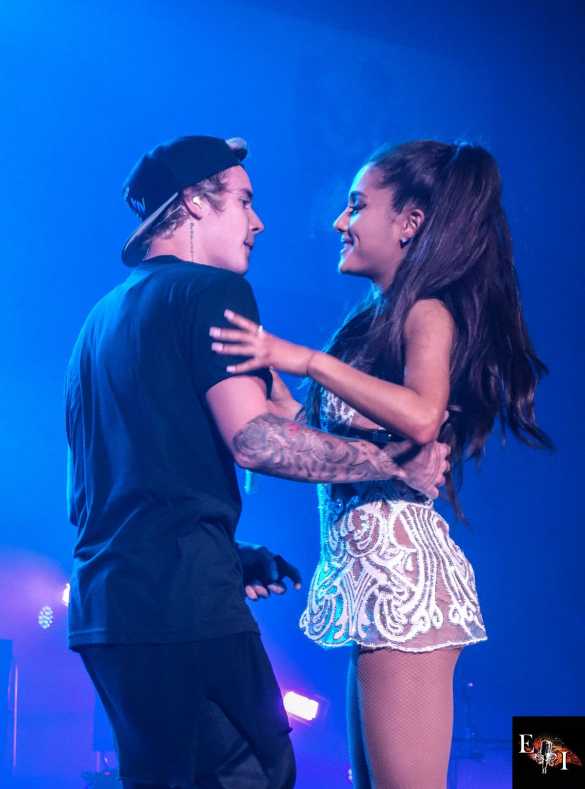 ARIANA GRANDE and Justin Bieber Performs at Honeymoon Tour in Miami