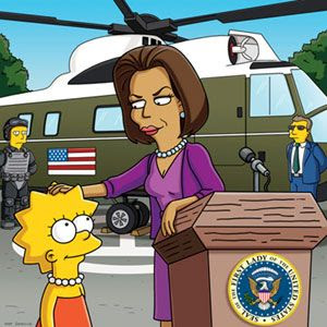 Lisa Simpson meets the First Lady in last night's episode of THE SIMPSONS.