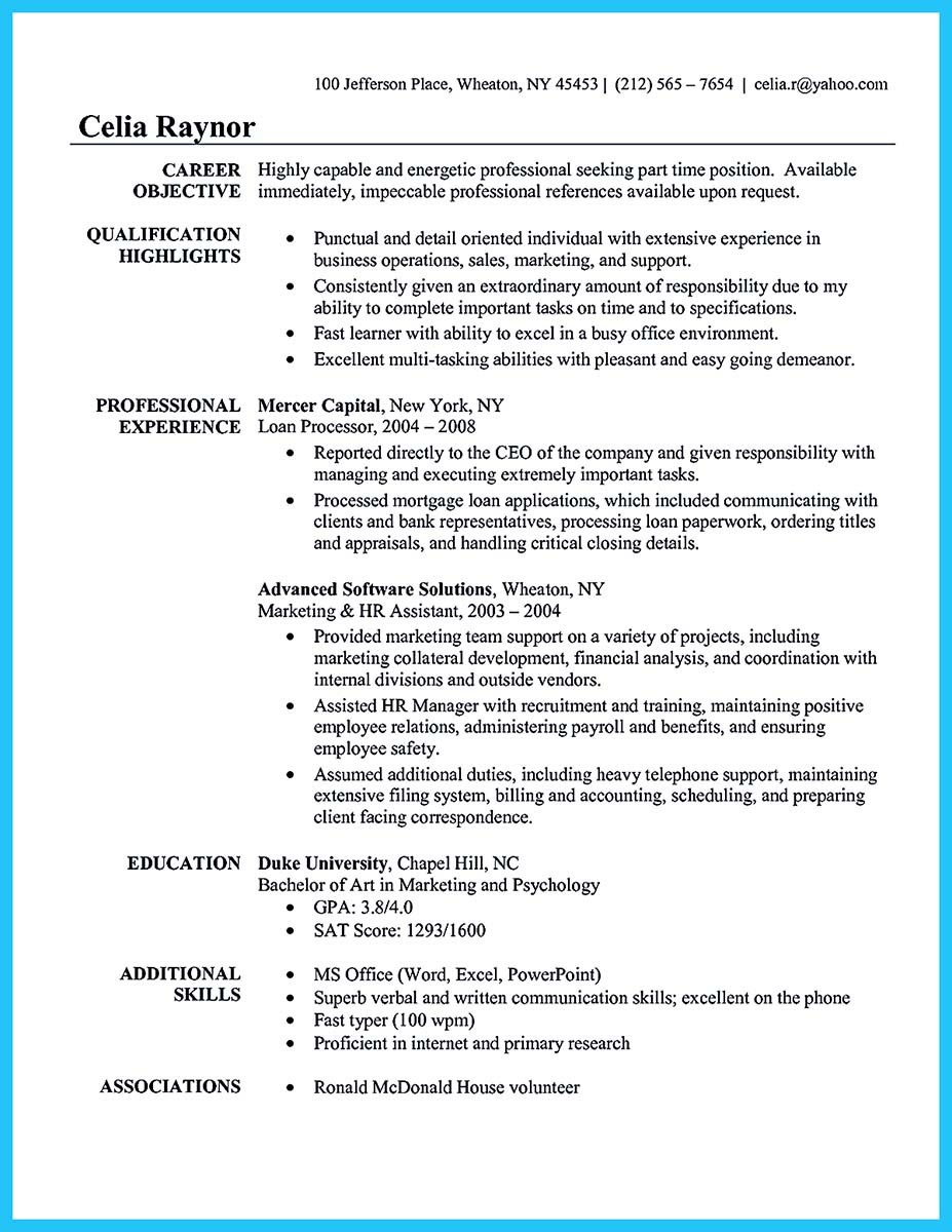 sample resume for executive administrative assistant