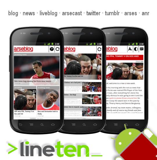 Arseblog android app