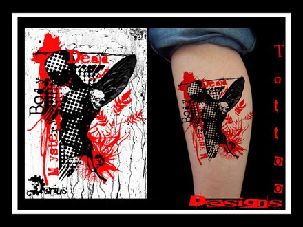 Picture 17 Of 28 From Black Red Stains Dots Tattoo Designs