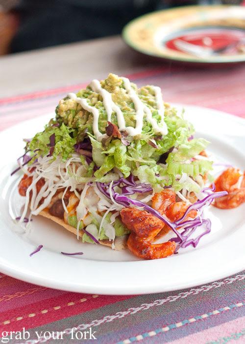 Prawn tostada at Yellow Ash 'n' Chilli Cafe, Kingscote, Kangaroo Island