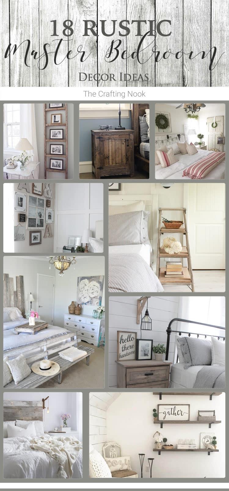 18 Rustic Master Bedroom  Decor  Ideas that will invite you