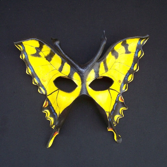 Tiger Swallowtail Leather Mask