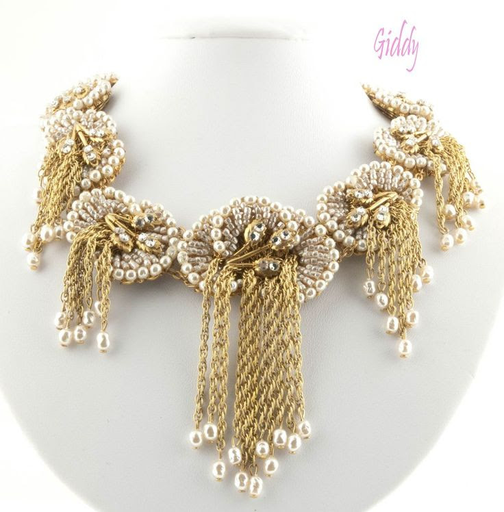 Impeccable Miriam Haskell Beaded Pearl Collar  http://www.rubylane.com