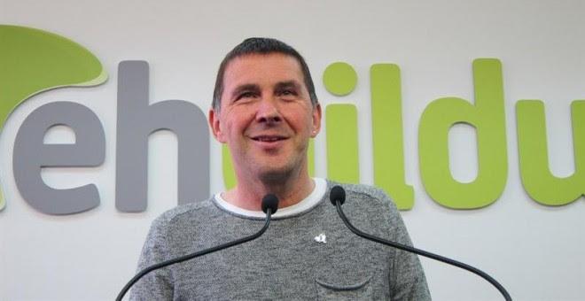 El candidato de EH Bildu a lehendakari, Arnaldo Otegi.- E.P.