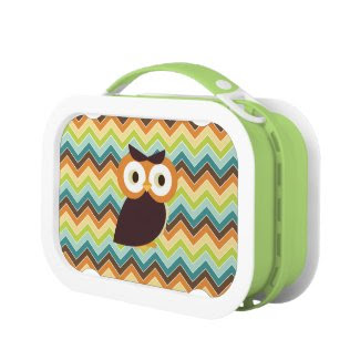 Owl {chevron} Lunch Box