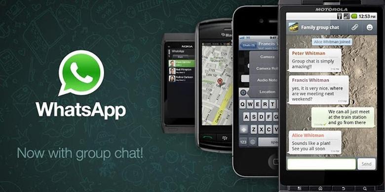 Aplikasi pesan instan WhatsApp tersedia di platform Android, iOS, BlackBerry, dan Windows Phone