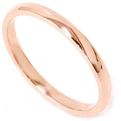 2mm 14K Rose Gold Comfort Fit Plain Wedding Band   eBay