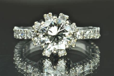2.60 Diamond Engagement Ring / 1.88 Carat Center