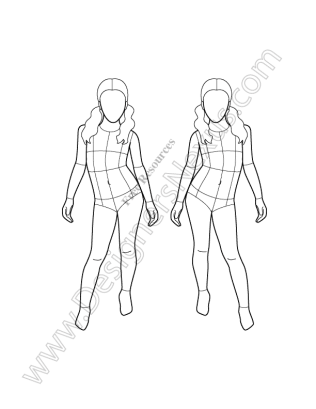 Drawing Fashion Template For Kids Bird Pencil Drawing