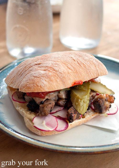 beef brisket sandwich at brickfields chippendale