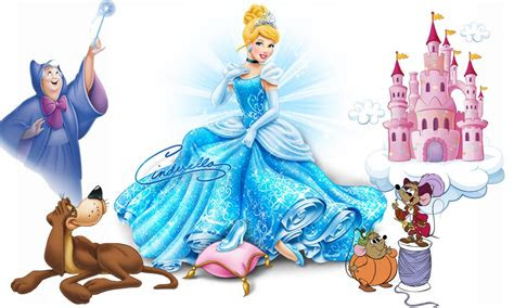 princess cinderella cartoon characters fairy godmother dog