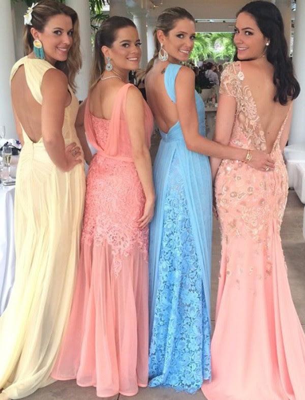 vestidos madrinhas mesma cor